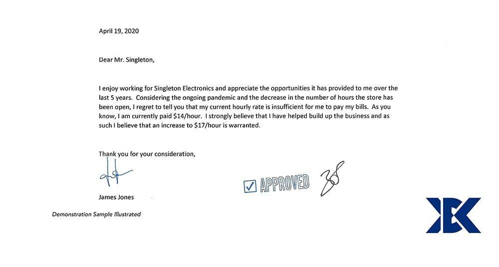 Demonstration Letter